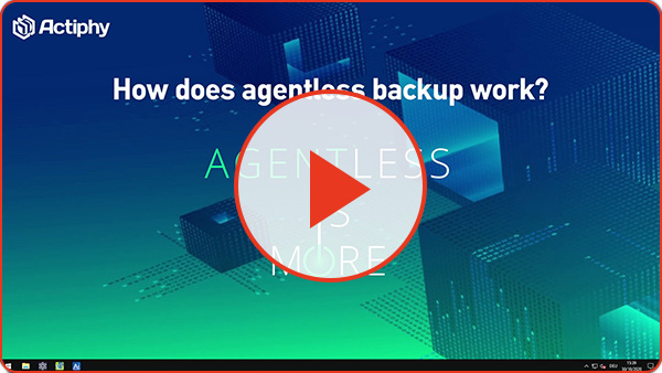 How agentless backup works